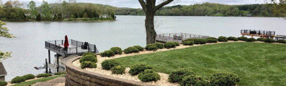Landscaping Claytor Lake lawn – AFTER